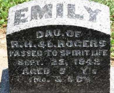 ROGERS, EMILY - Erie County, Ohio | EMILY ROGERS - Ohio Gravestone Photos