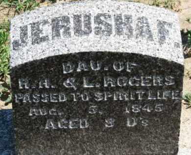 ROGERS, JERUSHA F. - Erie County, Ohio | JERUSHA F. ROGERS - Ohio Gravestone Photos