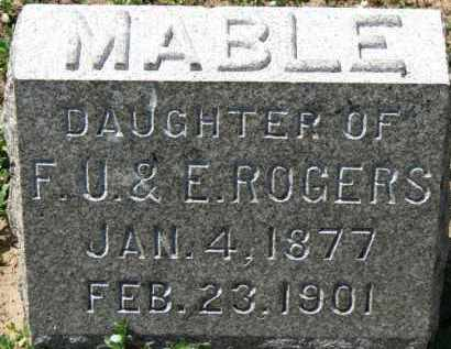 ROGERS, MABLE - Erie County, Ohio   MABLE ROGERS - Ohio Gravestone Photos