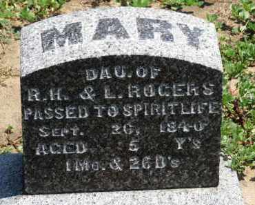 ROGERS, MARY - Erie County, Ohio | MARY ROGERS - Ohio Gravestone Photos