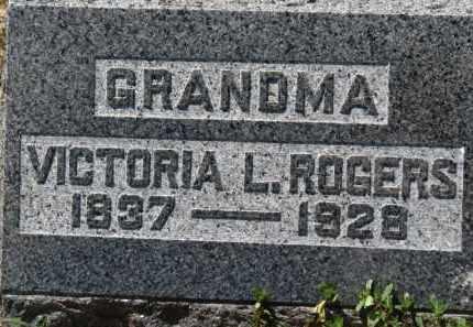 ROGERS, VICTORIA L. - Erie County, Ohio | VICTORIA L. ROGERS - Ohio Gravestone Photos