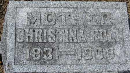 ROLL, CHRISTINA - Erie County, Ohio | CHRISTINA ROLL - Ohio Gravestone Photos