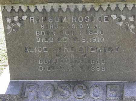 ROSCOE, ALICE JANE - Erie County, Ohio | ALICE JANE ROSCOE - Ohio Gravestone Photos