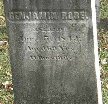 ROSE, BENJAMIN - Erie County, Ohio | BENJAMIN ROSE - Ohio Gravestone Photos