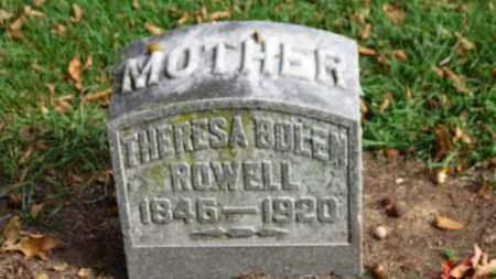 BOLEN ROWELL, THERESA - Erie County, Ohio | THERESA BOLEN ROWELL - Ohio Gravestone Photos