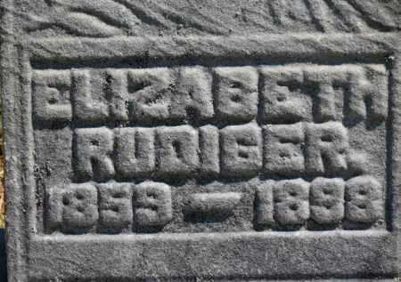 RUDIGER, ELIZABETH - Erie County, Ohio | ELIZABETH RUDIGER - Ohio Gravestone Photos