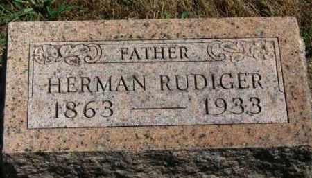 RUDIGER, HERMAN - Erie County, Ohio   HERMAN RUDIGER - Ohio Gravestone Photos