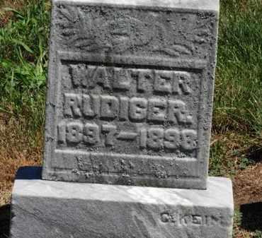 RUDIGER, WALTER - Erie County, Ohio | WALTER RUDIGER - Ohio Gravestone Photos