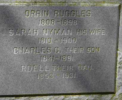RUGGLES, RDELL - Erie County, Ohio | RDELL RUGGLES - Ohio Gravestone Photos