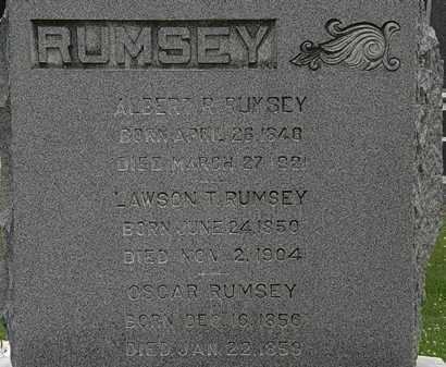 RUMSEY, OSCAR - Erie County, Ohio   OSCAR RUMSEY - Ohio Gravestone Photos