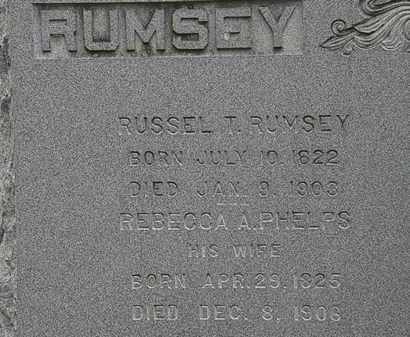 RUMSEY, REBECCA A.PHELPS - Erie County, Ohio | REBECCA A.PHELPS RUMSEY - Ohio Gravestone Photos