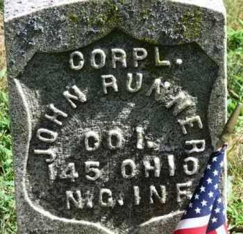 RUNNER, JOHN - Erie County, Ohio   JOHN RUNNER - Ohio Gravestone Photos