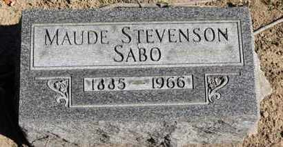 STEVENSON SABO, MAUDE - Erie County, Ohio   MAUDE STEVENSON SABO - Ohio Gravestone Photos
