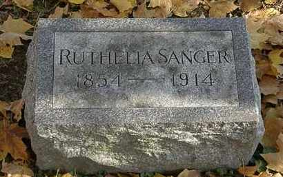 SANGER, RUTHELIA - Erie County, Ohio | RUTHELIA SANGER - Ohio Gravestone Photos