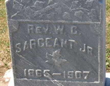 SARGEANT, REV. W.G.  JR. - Erie County, Ohio | REV. W.G.  JR. SARGEANT - Ohio Gravestone Photos