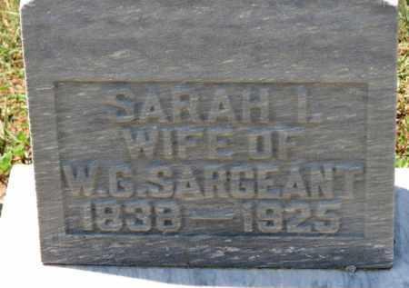 SARGEANT, SARAH I. - Erie County, Ohio | SARAH I. SARGEANT - Ohio Gravestone Photos