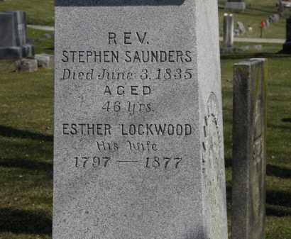 LOCKWOOD SAUNDERS, ESTHER - Erie County, Ohio | ESTHER LOCKWOOD SAUNDERS - Ohio Gravestone Photos