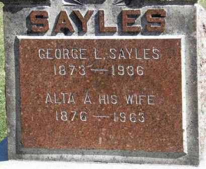 SAYLES, GEORGE L. - Erie County, Ohio | GEORGE L. SAYLES - Ohio Gravestone Photos