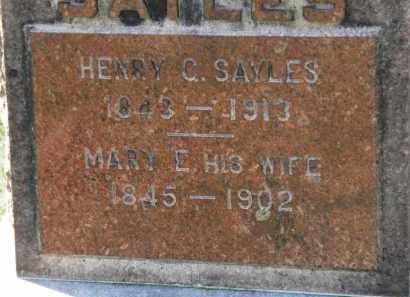 SAYLES, HENRY C. - Erie County, Ohio | HENRY C. SAYLES - Ohio Gravestone Photos