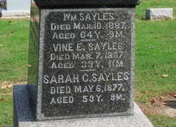 SAYLES, WM. - Erie County, Ohio | WM. SAYLES - Ohio Gravestone Photos