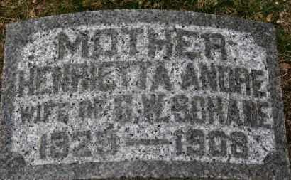 ANDRE SCHADE, HENRIETTA - Erie County, Ohio | HENRIETTA ANDRE SCHADE - Ohio Gravestone Photos