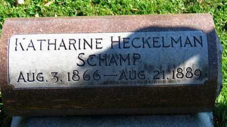 HECKELMAN SCHAMP, KATHARINE - Erie County, Ohio | KATHARINE HECKELMAN SCHAMP - Ohio Gravestone Photos