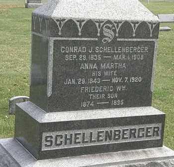 SCHELLENBERGER, FRIEDERIC WM. - Erie County, Ohio | FRIEDERIC WM. SCHELLENBERGER - Ohio Gravestone Photos
