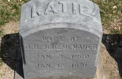SCHEMENAUER, KATIE - Erie County, Ohio | KATIE SCHEMENAUER - Ohio Gravestone Photos