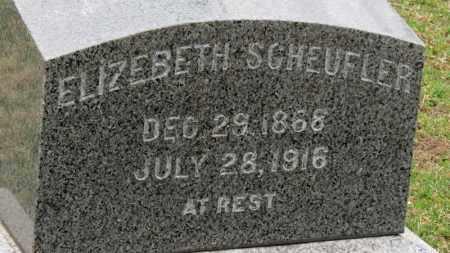 SCHEUFLER, ELIZABETH - Erie County, Ohio   ELIZABETH SCHEUFLER - Ohio Gravestone Photos