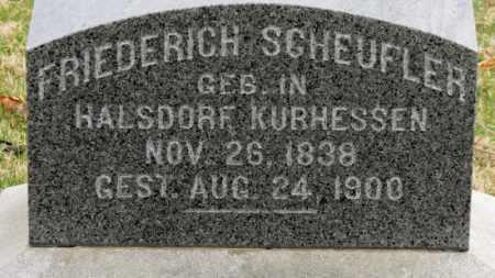 SCHEUFLER, FRIEDERICH - Erie County, Ohio | FRIEDERICH SCHEUFLER - Ohio Gravestone Photos