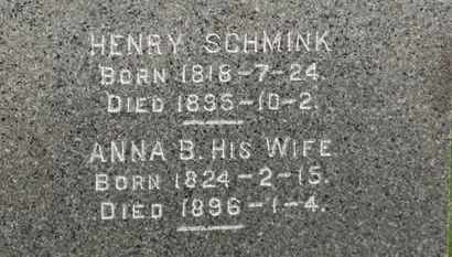 SCHMINK, ANNA B. - Erie County, Ohio   ANNA B. SCHMINK - Ohio Gravestone Photos