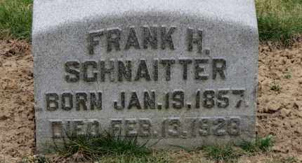 SCHNAITTER, FRANK H. - Erie County, Ohio   FRANK H. SCHNAITTER - Ohio Gravestone Photos