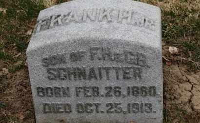 SCHNAITTER JR., FRANK H. - Erie County, Ohio   FRANK H. SCHNAITTER JR. - Ohio Gravestone Photos