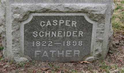 SCHNEIDER, CASPER - Erie County, Ohio   CASPER SCHNEIDER - Ohio Gravestone Photos