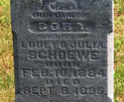SCHOEWE, CORA - Erie County, Ohio   CORA SCHOEWE - Ohio Gravestone Photos