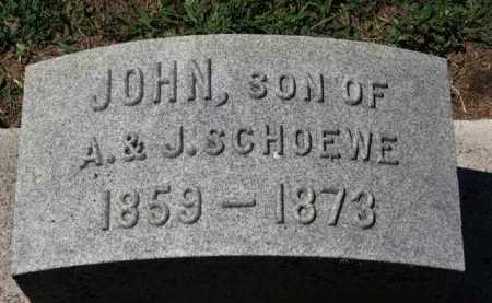 SCHOEWE, JOHN - Erie County, Ohio   JOHN SCHOEWE - Ohio Gravestone Photos