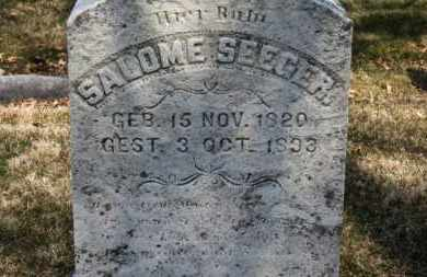 SEEGER, SALOME - Erie County, Ohio | SALOME SEEGER - Ohio Gravestone Photos