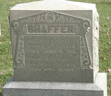 SHAFFER, CHRISTOPHER S. - Erie County, Ohio | CHRISTOPHER S. SHAFFER - Ohio Gravestone Photos