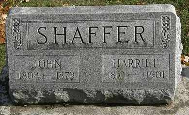 SHAFFER, HARRIET - Erie County, Ohio | HARRIET SHAFFER - Ohio Gravestone Photos
