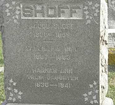 SHOFF, SALLIE - Erie County, Ohio | SALLIE SHOFF - Ohio Gravestone Photos