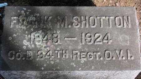 SHOTTON, FRANK M. - Erie County, Ohio | FRANK M. SHOTTON - Ohio Gravestone Photos