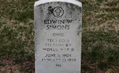 SIMONS, EDWIN W. - Erie County, Ohio | EDWIN W. SIMONS - Ohio Gravestone Photos