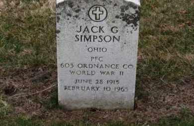 SIMPSON, JACK G. - Erie County, Ohio | JACK G. SIMPSON - Ohio Gravestone Photos
