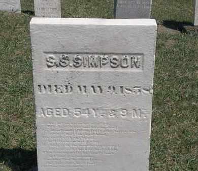 SIMPSON, S.S. - Erie County, Ohio | S.S. SIMPSON - Ohio Gravestone Photos