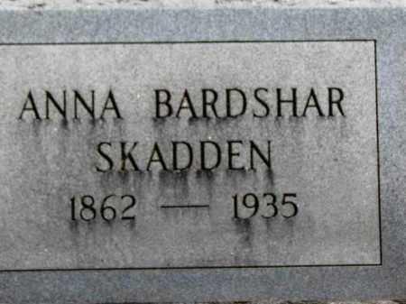 BARDSHAR SKADDEN, ANNA - Erie County, Ohio | ANNA BARDSHAR SKADDEN - Ohio Gravestone Photos