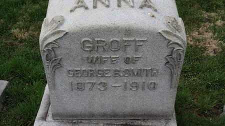GROFF SMITH, ANNA - Erie County, Ohio | ANNA GROFF SMITH - Ohio Gravestone Photos