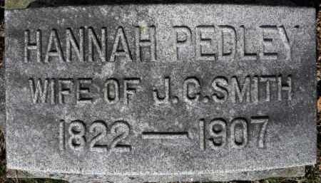 PEDLEY SMITH, HANNAH - Erie County, Ohio | HANNAH PEDLEY SMITH - Ohio Gravestone Photos