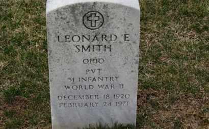 SMITH, LEONARD E. - Erie County, Ohio   LEONARD E. SMITH - Ohio Gravestone Photos