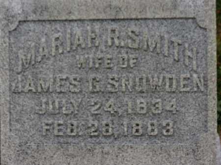 SMITH SNOWDEN, MARIAH R. - Erie County, Ohio   MARIAH R. SMITH SNOWDEN - Ohio Gravestone Photos