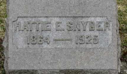 SNYDER, HATTIE E. - Erie County, Ohio | HATTIE E. SNYDER - Ohio Gravestone Photos